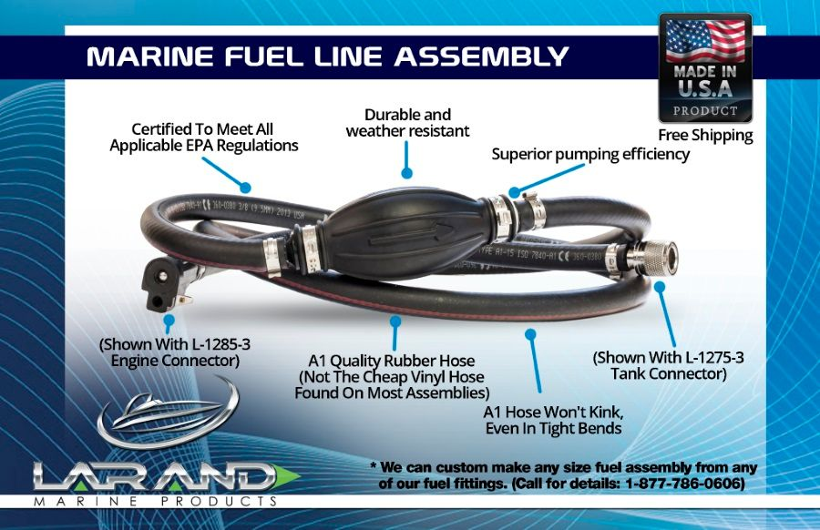 Highest Quality Marine Fuel Line Assembly